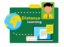 distance learning education clipart