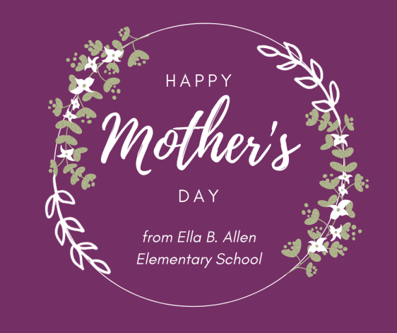 Purple Illustrated Animated Sticker Mother's Day Facebook Post